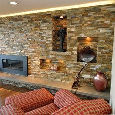 Contemporary Living Room by Ventana Construction LLC
