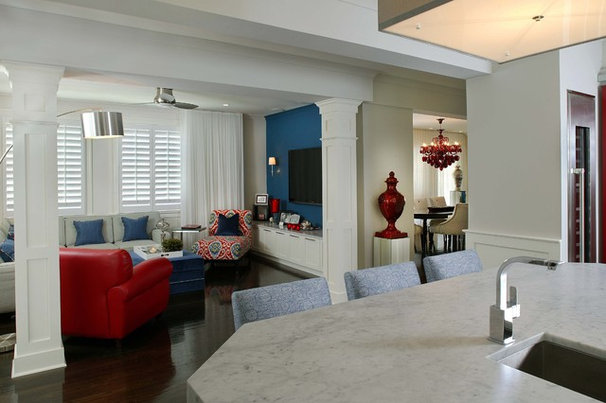 Contemporary Living Room by R. Dean Scott, Architect, Inc.