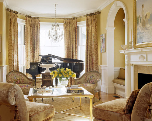 SaveEmail - Gold Living Room Houzz