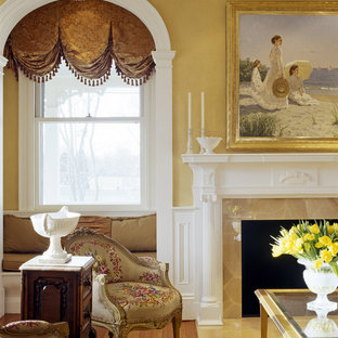 Living room - traditional living room idea in Boston