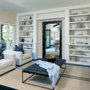 Living room - mediterranean living room idea in Los Angeles
