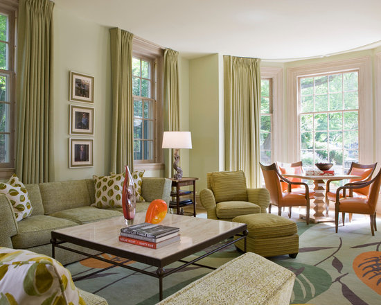 Green Living Room Houzz