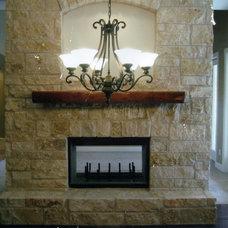 Traditional Living Room by Pegasus Construction LLC