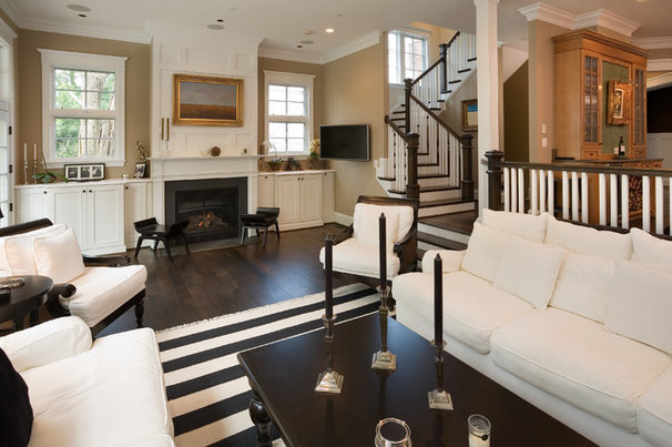 Traditional Living Room by Georgetown Development