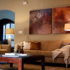 Eclectic Living Room by Adentro Designs
