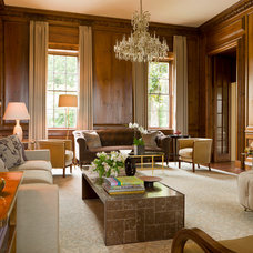 Traditional Living Room by Rill Architects