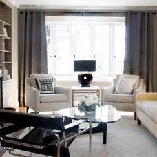 Transitional Living Room by liza ryner design