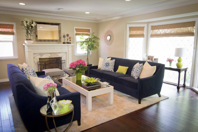 Contemporary Living Room by Georgette Westerman Interiors