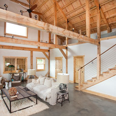 Contemporary Living Room by Sand Creek Post & Beam