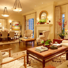 Traditional Living Room by Lencioni Construction