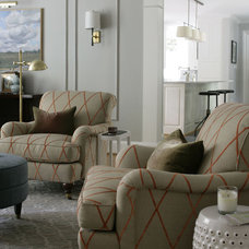 Traditional Living Room by Heather Garrett Design