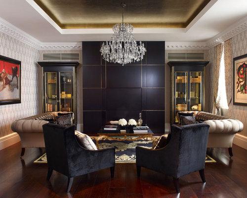 SaveEmail - Modern Black Living Room Furniture Houzz