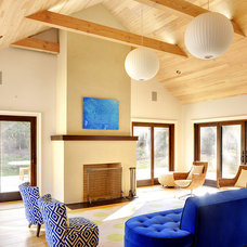 Transitional Living Room by Erica Broberg Smith Architect PLLC