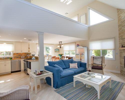 maritime wohnzimmer mit eckkamin ideen design houzz. Black Bedroom Furniture Sets. Home Design Ideas