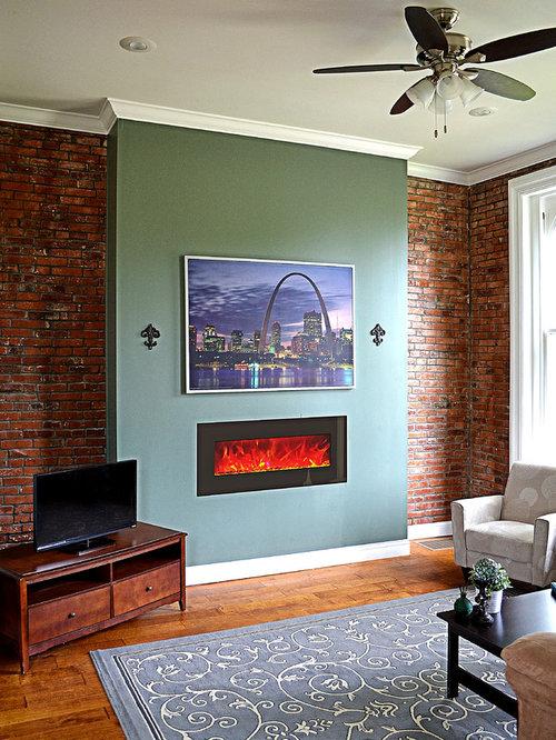wohnen mit h ngekamin und roten w nden ideen f r die wohnraumgestaltung. Black Bedroom Furniture Sets. Home Design Ideas