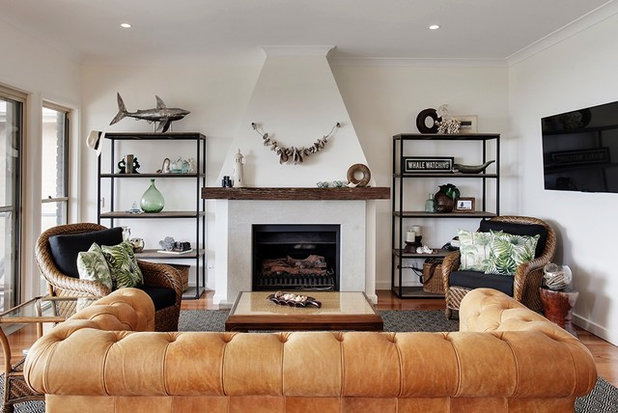 Beach Style Living Room by Seaside Creative Interiors