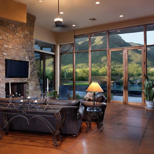 Klassische wohnzimmer mit betonboden ideen design - Klassische wohnzimmer ...