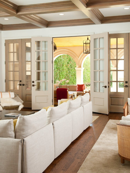 Living room french door houzz for Living room designs with french windows