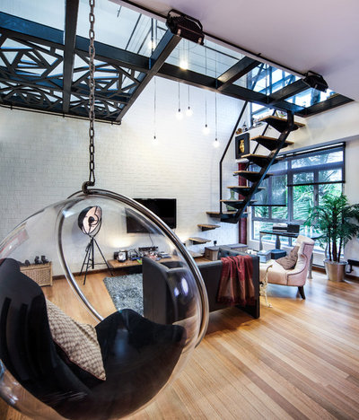 Industrial Family  Room by DISTINCTidENTITY Pte Ltd