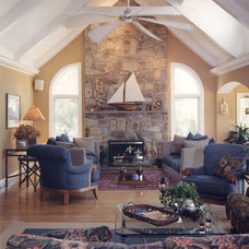 Traditional Living Room by Gina Fitzsimmons ASID