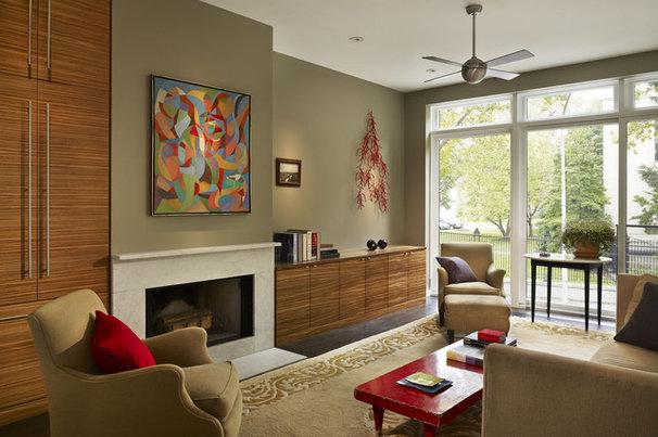 Modern Living Room by Brett Webber Architects, PC