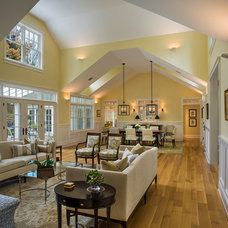Traditional Living Room by JMS Architecture LLC