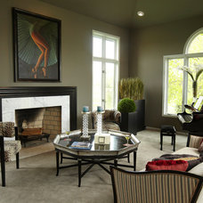 Traditional Living Room by Jaque Bethke for PURE Design Environments Inc.