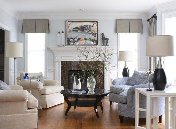 American Traditional Living Room by Cynthia Mason Interiors