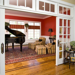 traditional living room by Maureen Fiori, AKBD, Allied Member ASID, CAPS