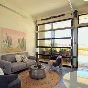 Glass Garage Door for living room division