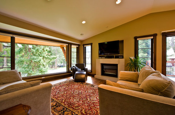 Traditional Living Room by Sticks and Stones Design Group Inc