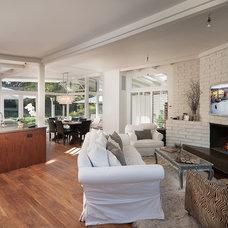 Midcentury Living Room by Becker Studios