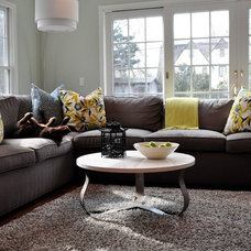Contemporary Living Room by DW Designs - Diana Weinstein Designs