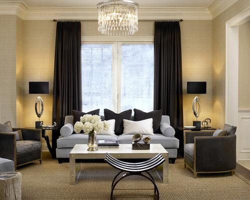 Black And Cream Living Room Design Ideas, Renovations & Photos