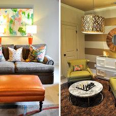 Contemporary Living Room by evaru design