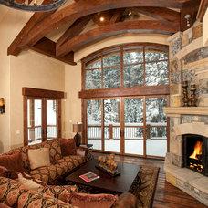 Contemporary Living Room by Rockridge Building Company