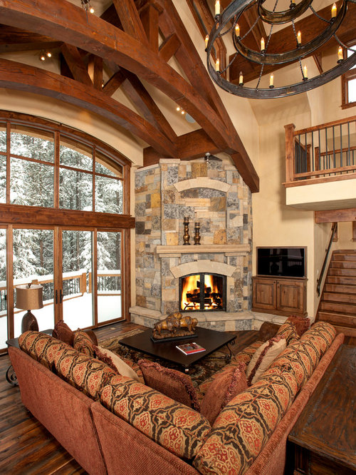 corner fireplace living room. Inspiration for a contemporary living room remodel in Denver with corner  fireplace Living Room Corner Fireplace Houzz