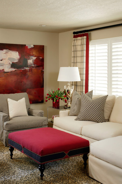Contemporary Living Room by Tobi Fairley Interior Design