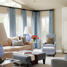 Transitional Living Room by Tobi Fairley Interior Design