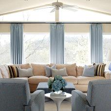 Contemporary Living Room by Tobi Fairley Interior Design