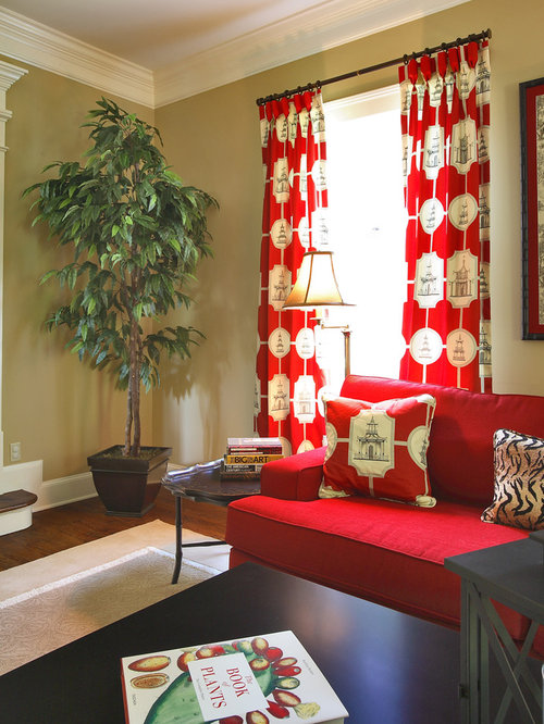 Red Curtains beige red curtains : Beige Walls Olive Green Curtains Ideas, Pictures, Remodel and Decor