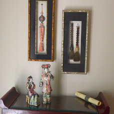 Asian Living Room by Bayberry Cottage