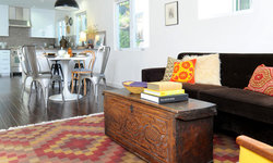 Global Modern Home with Vintage Ethnic Textiles