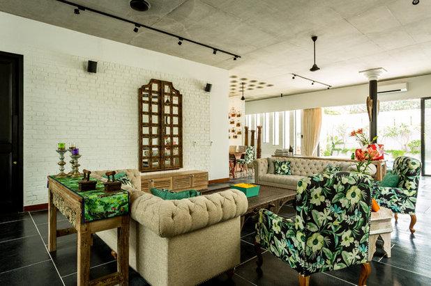 Eclectic Living Room by Shabnam Gupta