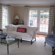 Transitional Living Room by Drapery Design