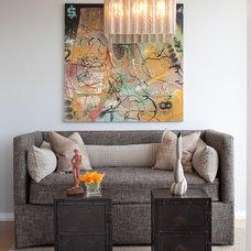 Contemporary Living Room by Buckingham Interiors + Design LLC