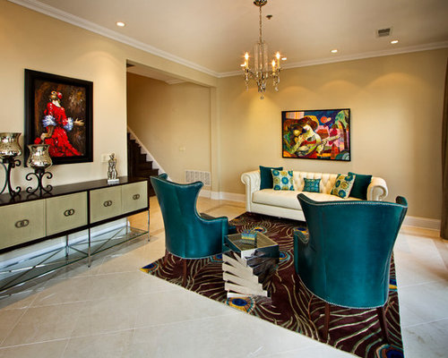 Peacock Blue Living Room Design Ideas Remodels S