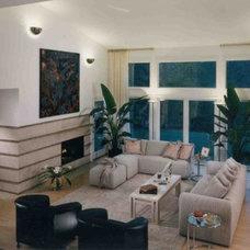 Traditional Living Room by Downey Robbins Szafarz Architects Inc.