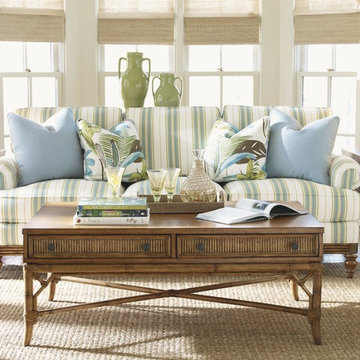 Golden Isle Stationary Sofa With Accent Pillows