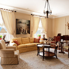 Traditional Living Room by David Giral Photography